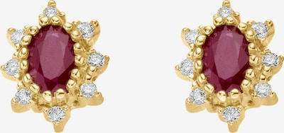 CHRIST Earrings in Gold / Ruby red, Item view