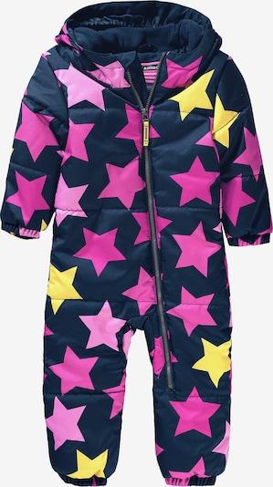 myToys-COLLECTION Schneeanzug 'Starlet' in navy / limone / pink, Produktansicht