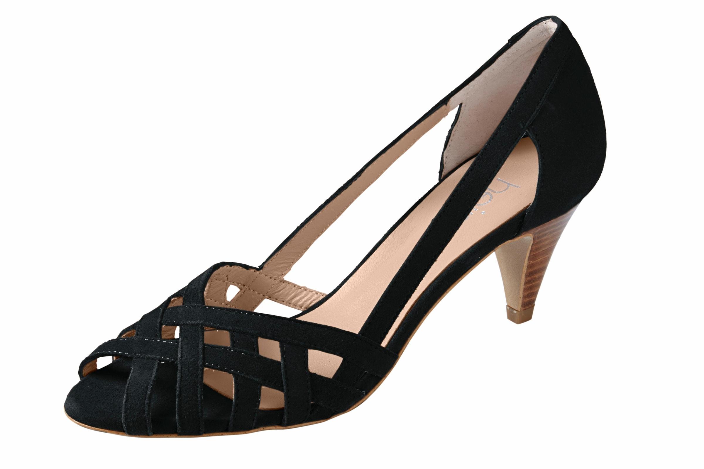 heine Sandalette aus Veloursleder Verschleißfeste billige Schuhe