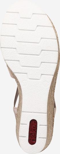 RIEKER Sandale in rosé: Ansicht von unten