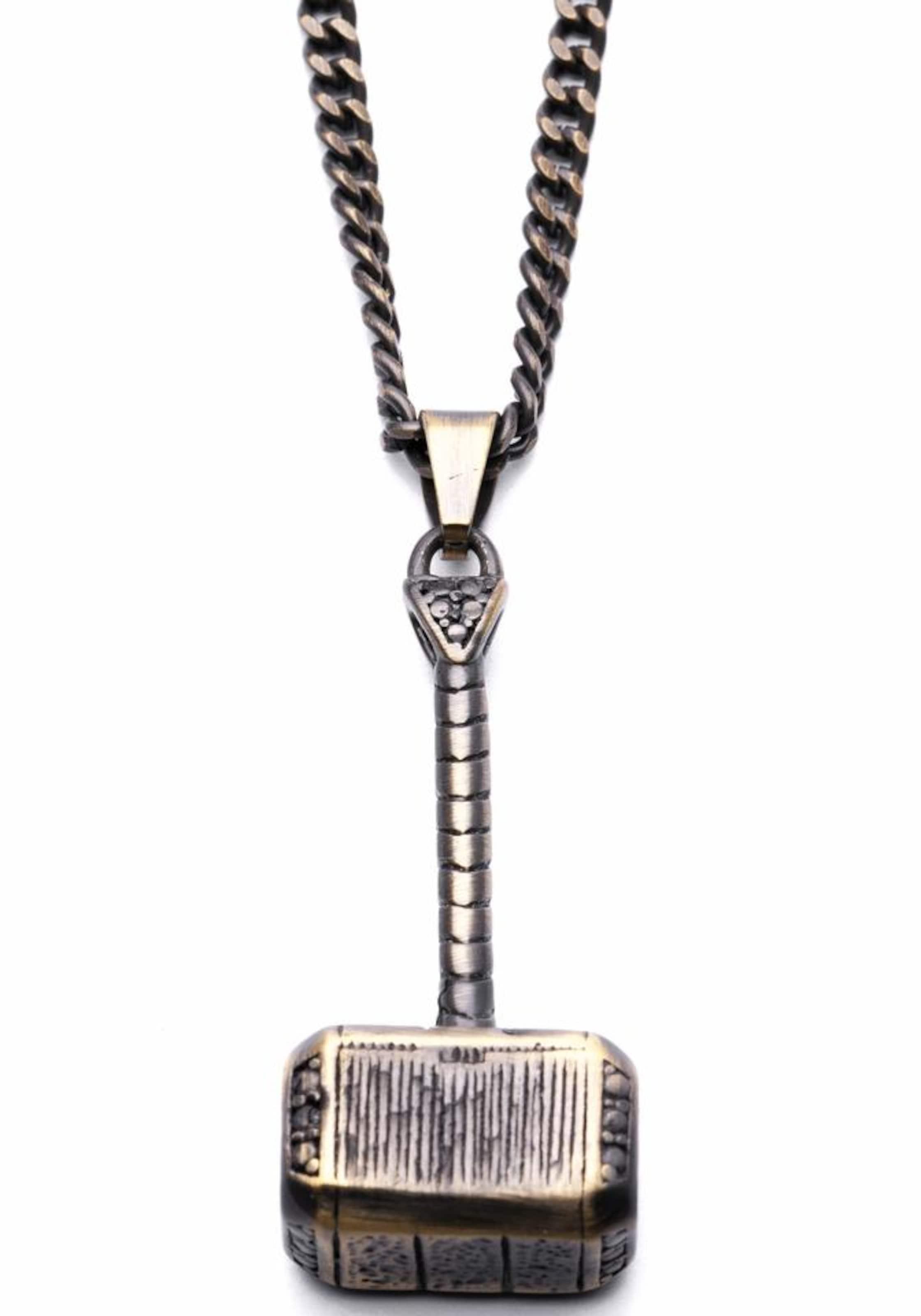 ROYAL-EGO Kette mit Anhänger 'Hammer atice gold, 1264'