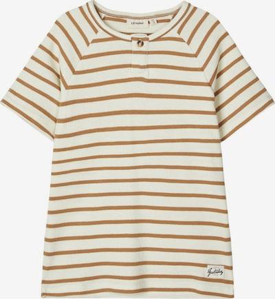NAME IT Shirt in de kleur Bruin / Wit: Vooraanzicht