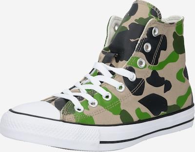 Sneaker alta 'Chuck Taylor All Star' CONVERSE di colore beige / verde / nero, Visualizzazione prodotti