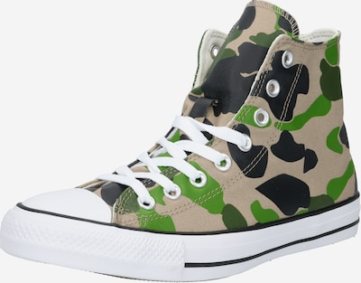 CONVERSE Sneaker 'Chuck Taylor All Star' in beige / grün / schwarz, Produktansicht
