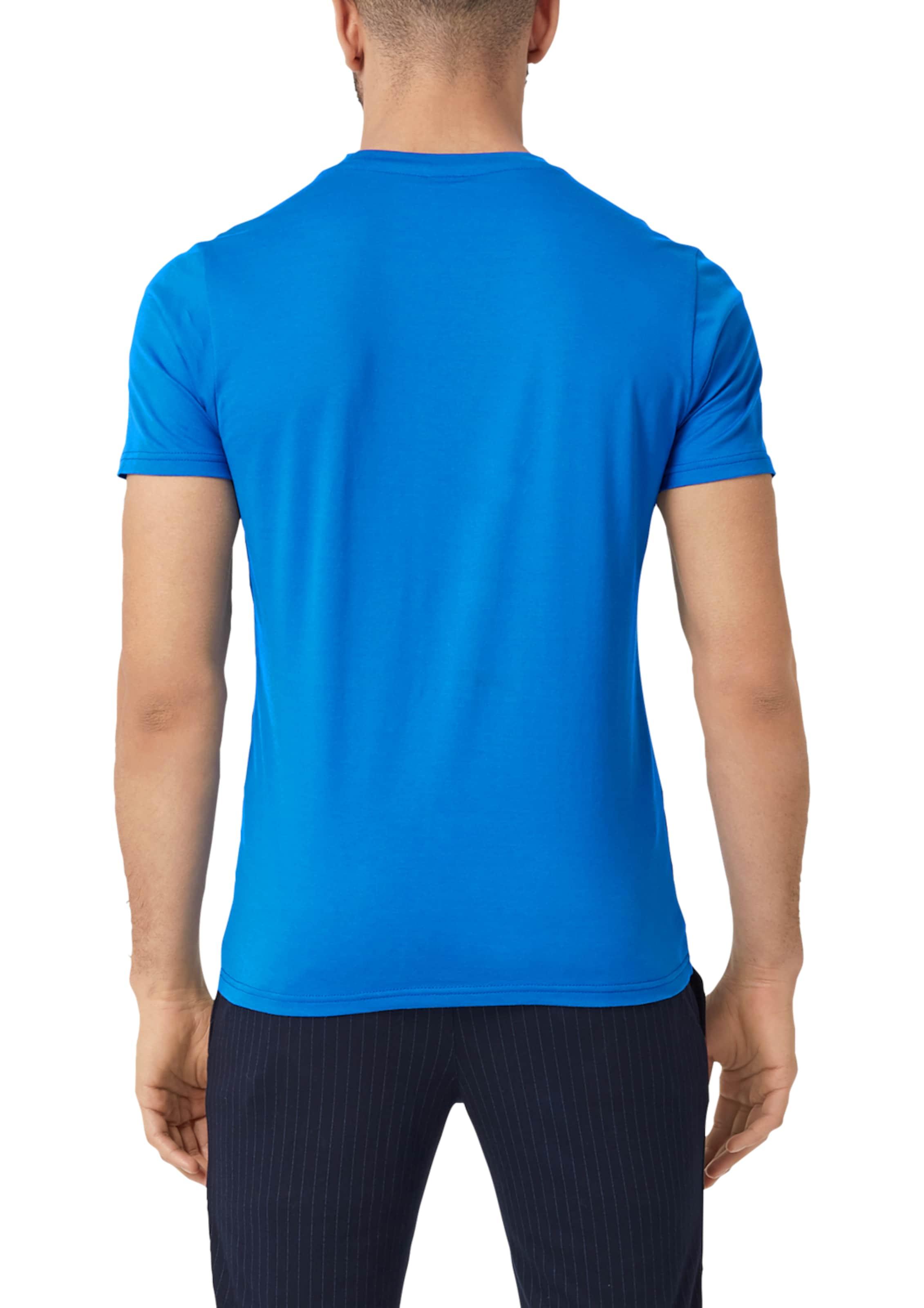 Label Wording S oliver Black Jerseyshirt 3d In Blau Mit redBxWCo