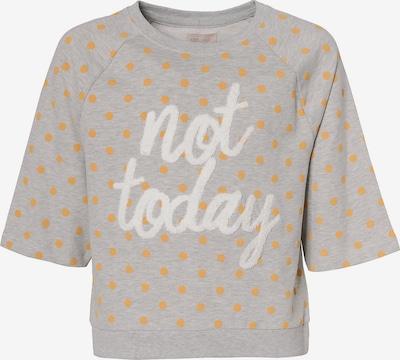 KIDS ONLY Sweatshirt 'KONNEELA' in gelb / grau / weiß, Produktansicht