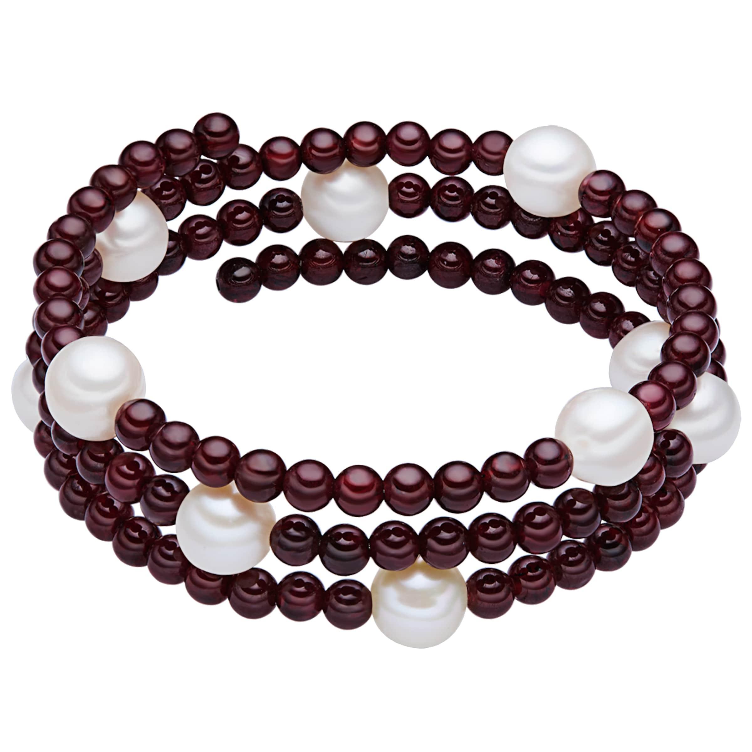 Valero Pearls Granat-Armband mit Süßwasser-Zuchtperlen Footlocker Bilder Verkauf Online Poo18NHj7