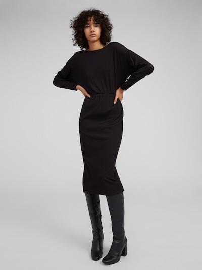 EDITED Kleid 'Destine' in schwarz: Frontalansicht