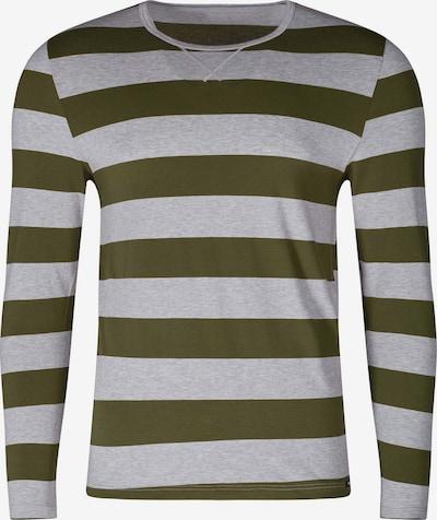 Skiny Shirt in graumeliert / oliv, Produktansicht