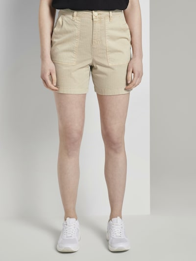 TOM TAILOR DENIM Shorts in beige, Modelansicht