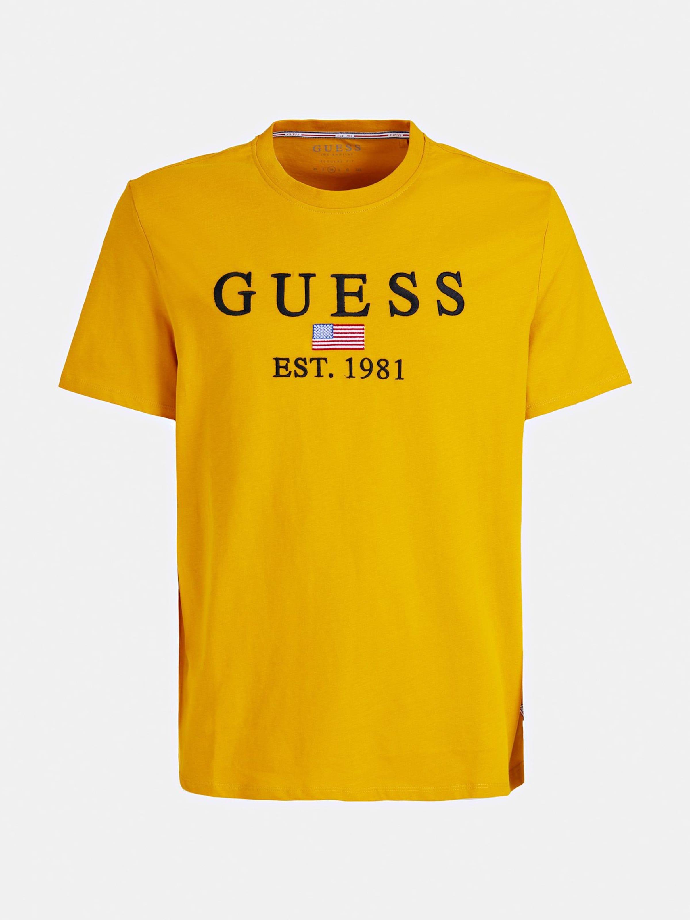 shirt Guess T In Guess Gelb UzSMGVqp