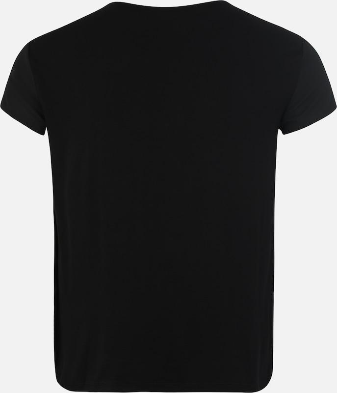 Curvy T Anna shirt' En Front 'pleated Woven Field Noir shirt T N8Pn0wXOk