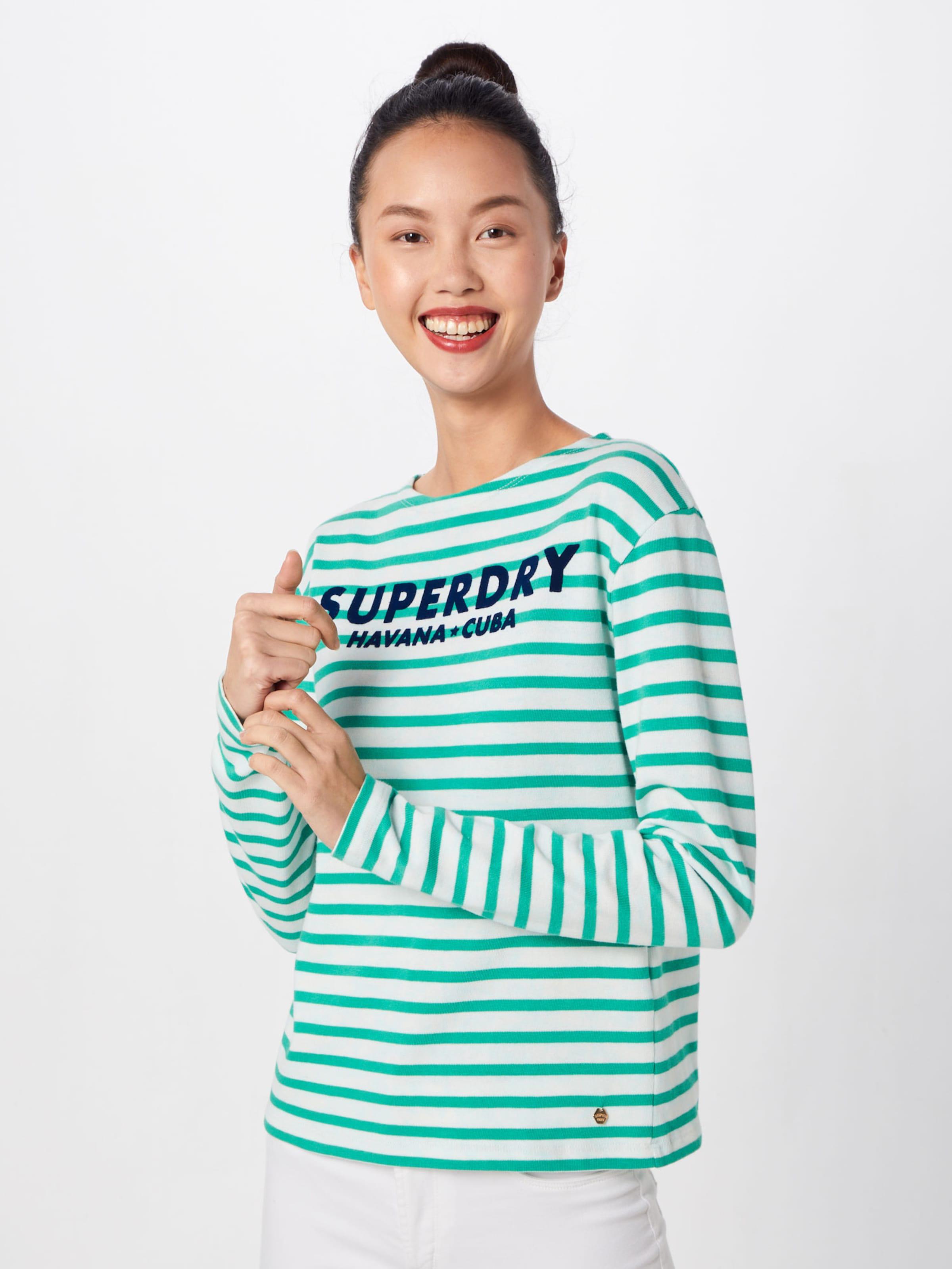 In 'havana' 'havana' Superdry Shirt GrünWeiß 'havana' In Superdry GrünWeiß Superdry Shirt Shirt wPZukTXilO