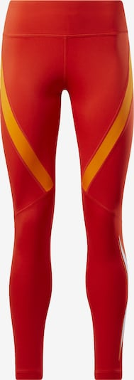 REEBOK Sportbroek in de kleur Sinaasappel / Rood, Productweergave