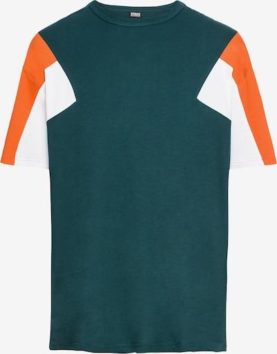 Urban Classics T-Shirt '3-Tone Tee' in petrol / orange / weiß: Frontalansicht