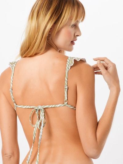 CATWALK JUNKIE Bikinioberteil 'SAFARI' in sand / weiß: Rückansicht