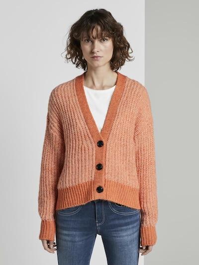 TOM TAILOR Strickjacke in orange / hellorange, Modelansicht