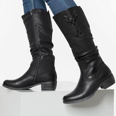 RIEKER Laarzen in de kleur Zwart: Vooraanzicht