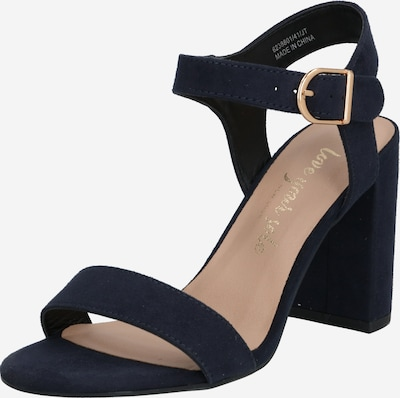 NEW LOOK Riemensandalen 'VIMS 4' in blau / gold, Produktansicht