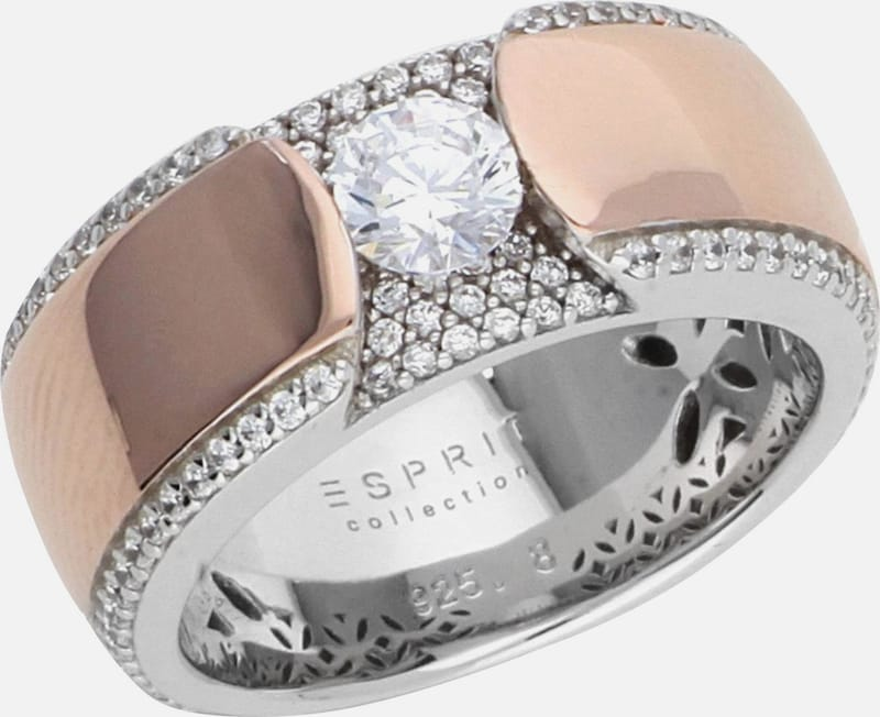 ESPRIT Fingerring Safira mit Zirkonia-Steinbesatz ELRG92456B