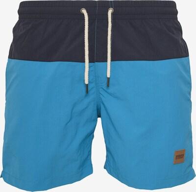 Urban Classics Shorts 'Block Swim' in neonblau / dunkelblau, Produktansicht