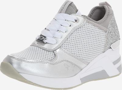 TOM TAILOR Baskets basses en gris / argent: Vue de face