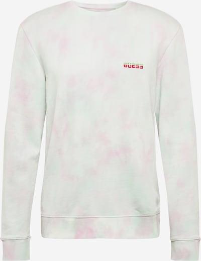 GUESS Majica 'BENJAMIN'   svetlo zelena / roza / naravno bela barva, Prikaz izdelka