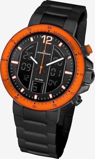 Jacques Lemans Uhr 'Milano' in orangerot / schwarz, Produktansicht