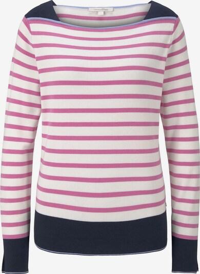 TOM TAILOR DENIM Pullover in rot / weiß, Produktansicht
