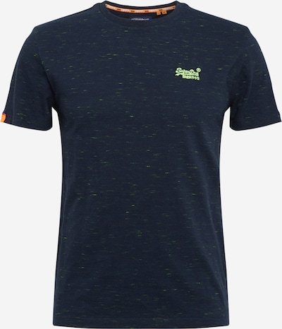 Superdry Shirt in de kleur Navy / Neongroen / Sinaasappel, Productweergave