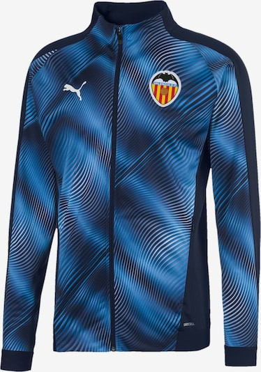 PUMA Jacke 'Valencia CF' in blau / dunkelblau / weiß, Produktansicht