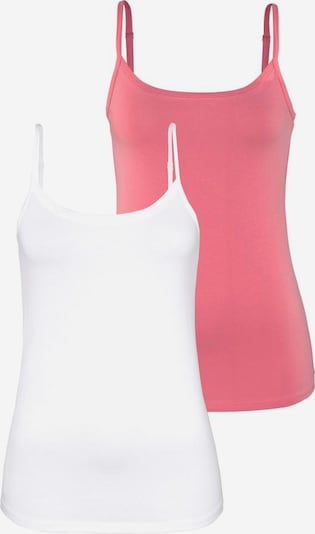 VIVANCE Tops in pink / weiß, Produktansicht