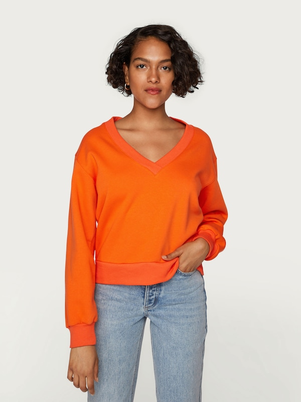 Orange 'caron' shirt Sweat En Edited Foncé hrCsxtQdB