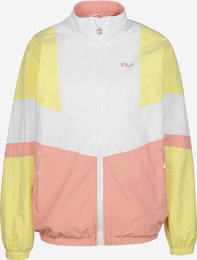 FILA Trainingsjack 'Baka' in de kleur Geel / Rosé / Wit, Productweergave