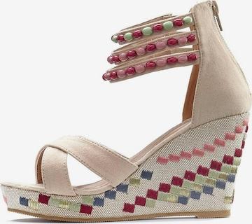 LASCANA Sandalette in Beige
