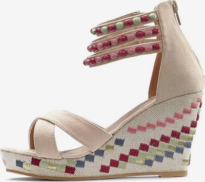LASCANA Sandalette in beige / rosa / rot, Produktansicht