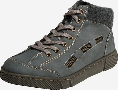 RIEKER Athletic lace-up shoe in dusty blue / dark grey, Item view