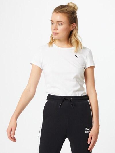PUMA T-shirt fonctionnel en noir / blanc: Vue de face