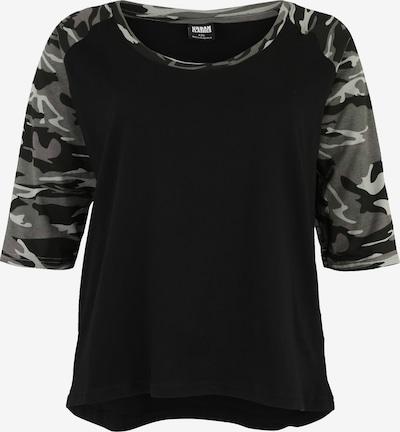 Urban Classics Curvy Majica 'Contrast Raglan Tee' | siva / črna barva, Prikaz izdelka