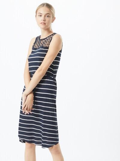 Sublevel Kleid in dunkelblau / weiß, Modelansicht