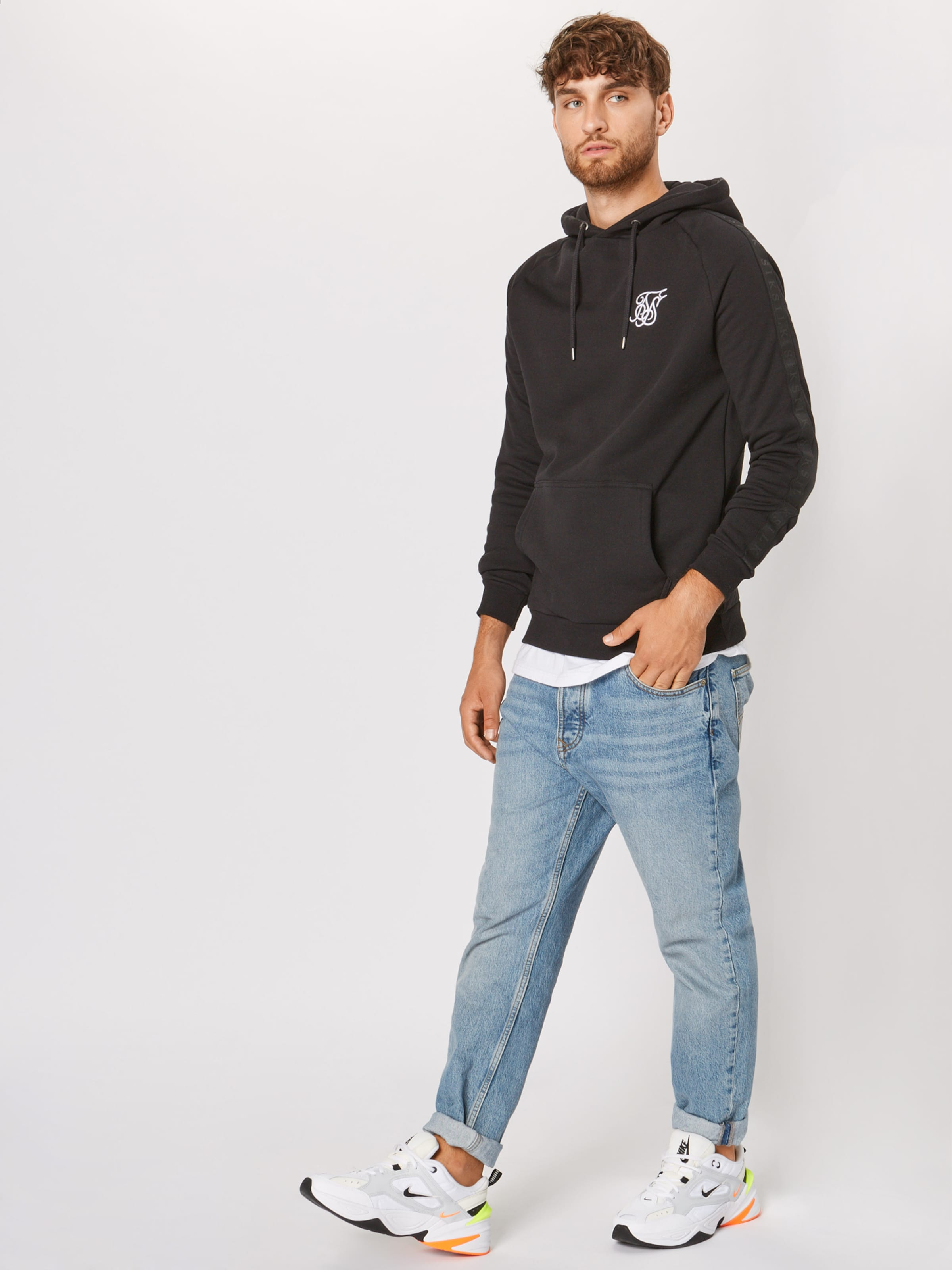 Sweatshirt In Sweatshirt Siksilk Siksilk Sweatshirt Schwarz Schwarz Siksilk In bfvym6Y7gI