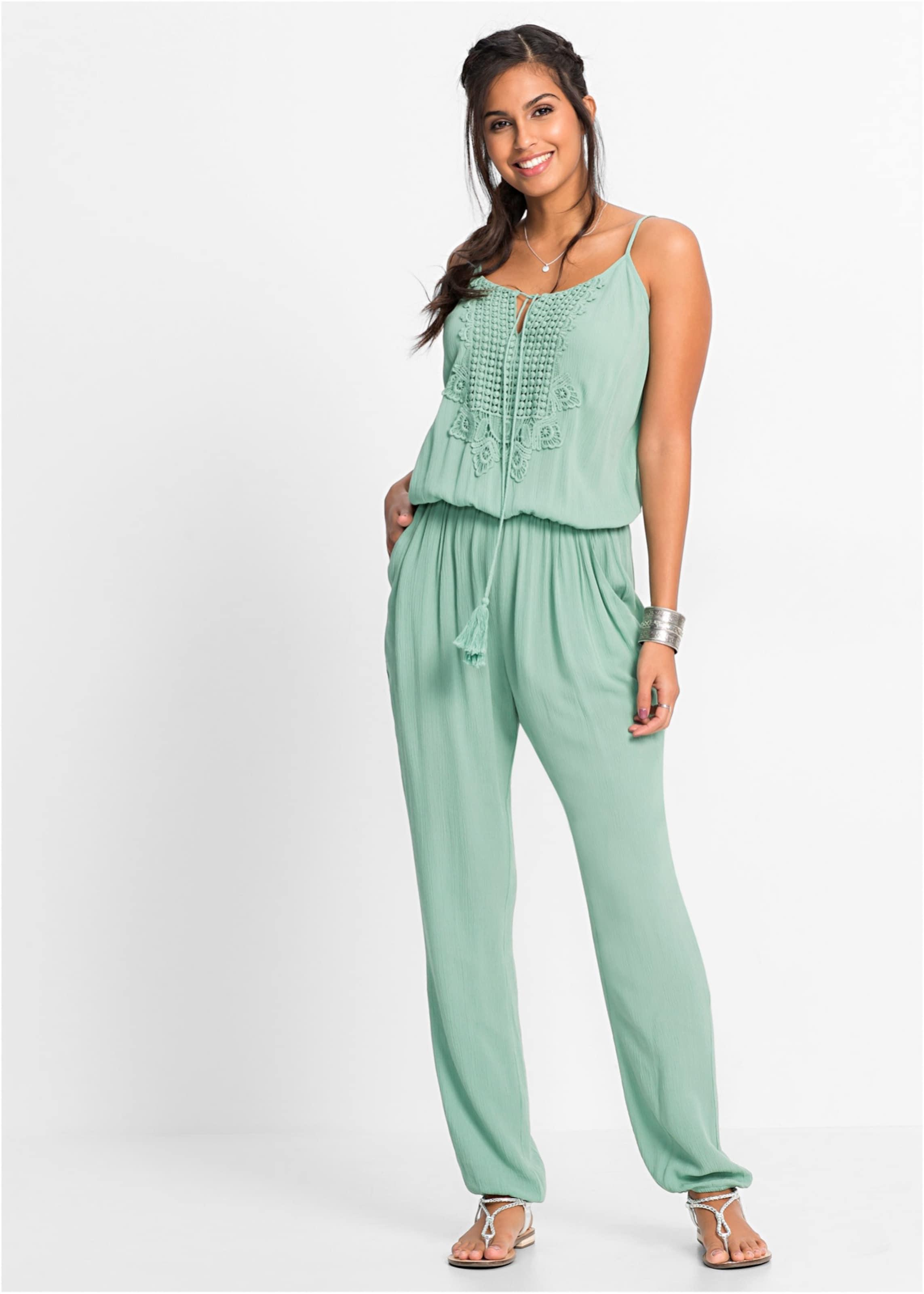 Räumungspreis genießen billiger Verkauf unverwechselbares Design Bonprix Jumpsuit Mit In Mint Lsmgqpuzv Spitze Casqrl435j ...