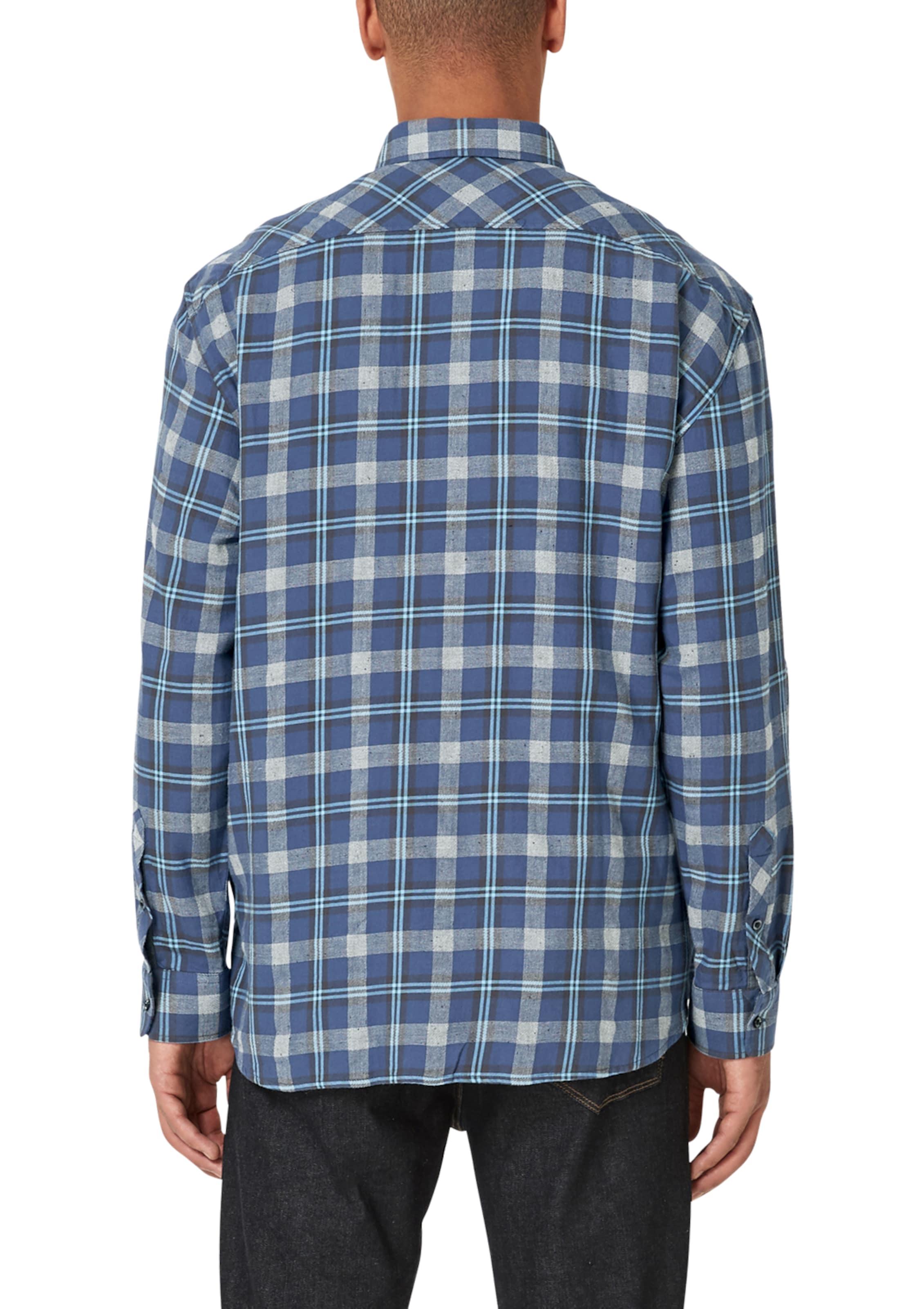 Graumeliert RoyalblauHellblau oliver Hemd In S Label Red T3lK1FcJ