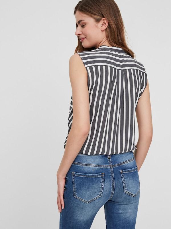 VERO MODA Gestreiftes Hemd ohne Ärmel
