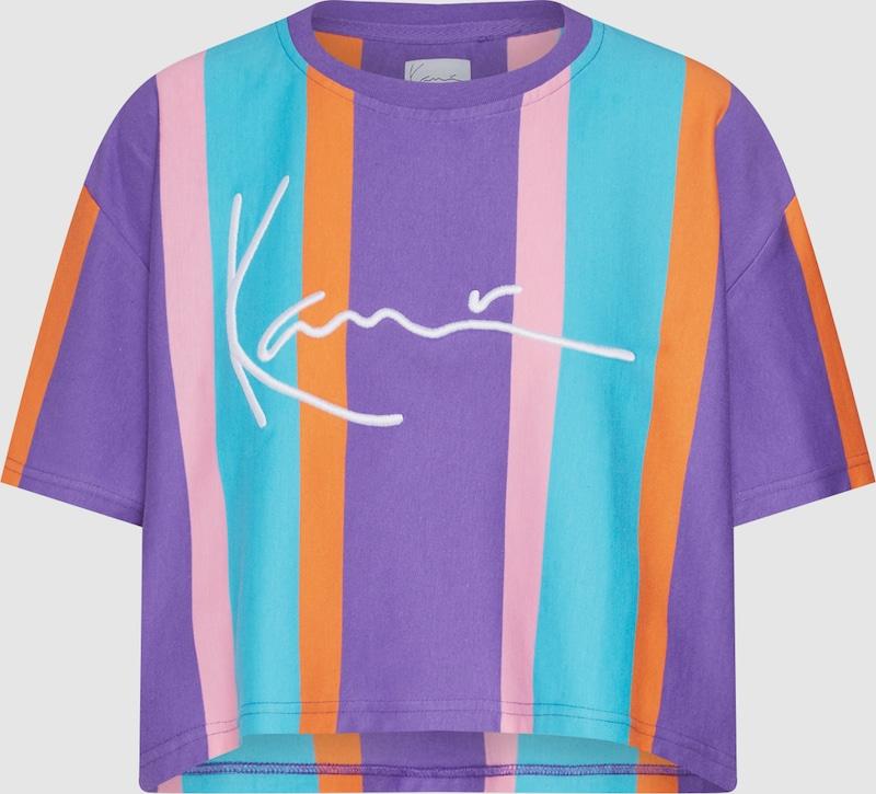 adidas Originals - T Shirt in Violett mit Kleeblattlogo
