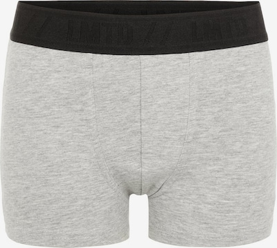 NAME IT 2er-Pack Boxershorts in graumeliert / schwarz, Produktansicht