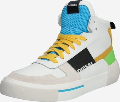 DIESEL Kotníkové tenisky 'S-DESE MG MID' - žlutá / zelená / bílá, Produkt