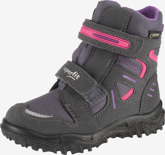 myToys-COLLECTION Winterstiefel 'Husky' in dunkelgrau / helllila / pink, Produktansicht