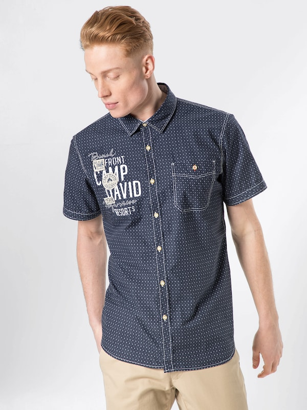 CAMP DAVID Hemd in navy   weiß    Neu in diesem Quartal 017e89