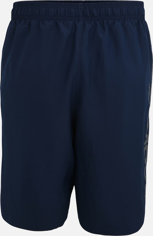 UNDER ARMOUR Trainingsshorts 'Woven Graphic Wordmark' in blau, Produktansicht